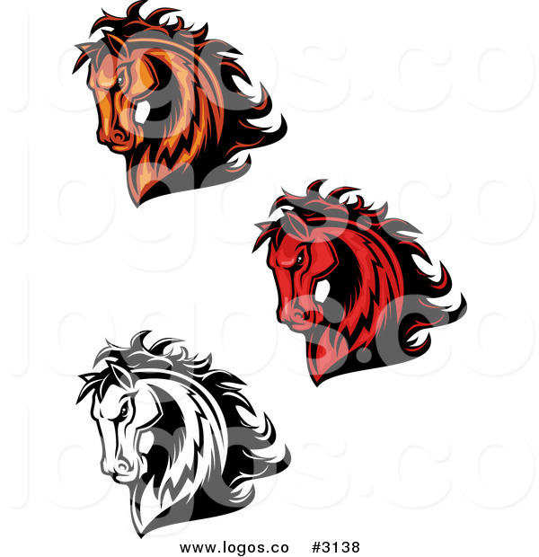 600x620 Royalty Free Vector Of Horse Head Logos By Vector Tradition Sm