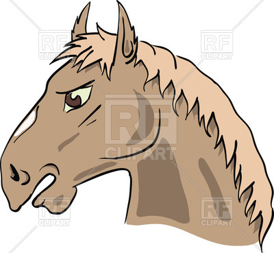 400x369 Cartoon Horse's Head Royalty Free Vector Clip Art Image