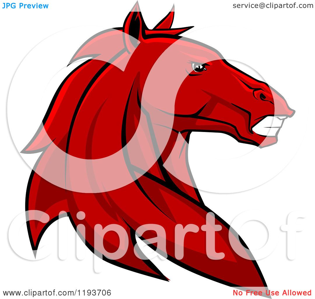 1080x1024 Clipart Of A Tough Red Horse Head