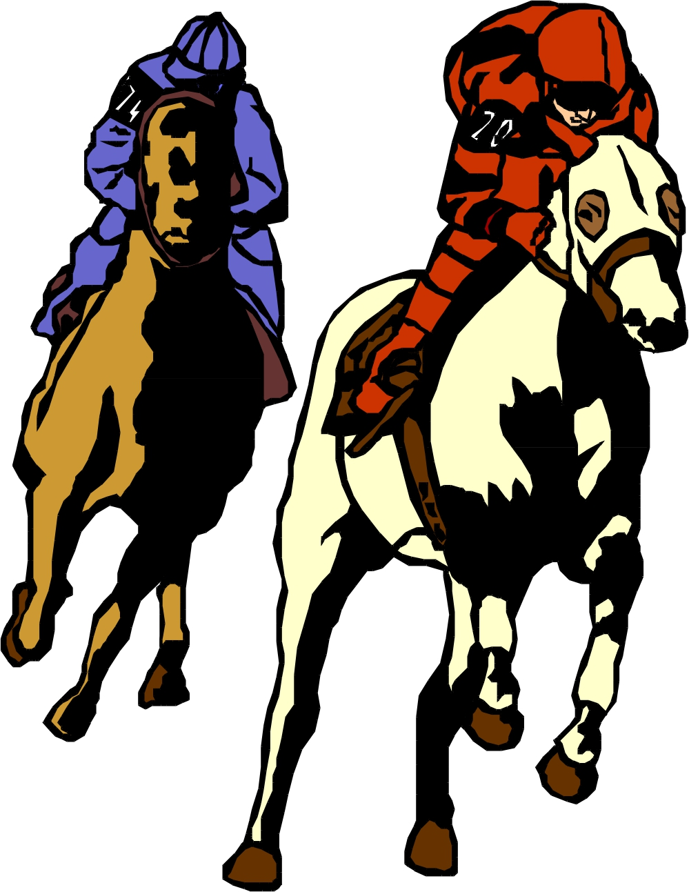 999x1293 Horse Racing Cartoon Clip Art 101 Clip Art