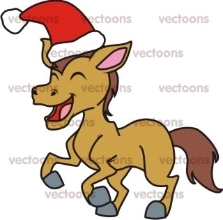 320x315 Clip Art Christmas Horse Clipart
