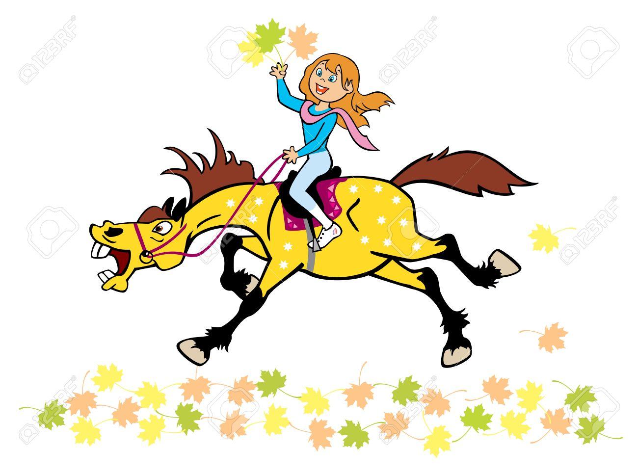 1300x968 Girl Riding A Horse Clipart Free Amp Girl Riding A Horse Clip Art