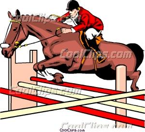 300x273 Horse Jumping Clip Art
