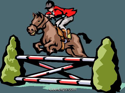 480x356 Horse Jumping Royalty Free Vector Clip Art Illustration Peop1429