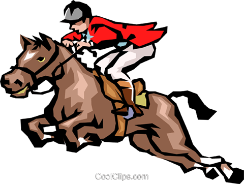 480x362 Horse Jumping Royalty Free Vector Clip Art Illustration Peop1554