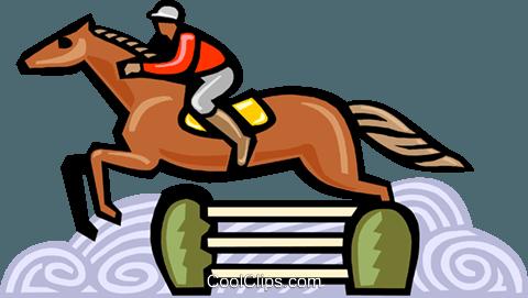 480x271 Horse Jumping Royalty Free Vector Clip Art Illustration Vc000124
