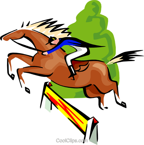 476x480 Sports, Horse Jumping, Equestrian Royalty Free Vector Clip Art