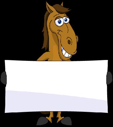 388x436 Free Cartoon Horse Clipart