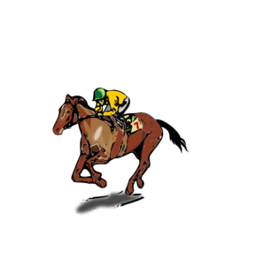 298x294 Horse Jockey Clip Art