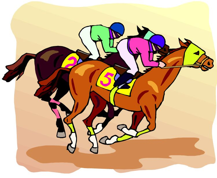 750x616 Kentucky Derby Horse Clip Art
