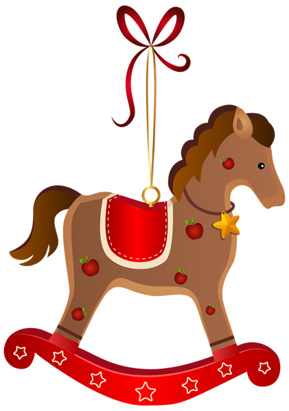 421x600 Rocking Horse Christmas Ornament Transparent Png Clip Art Image