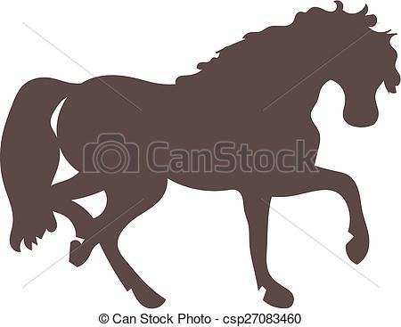450x367 Horse Silhouette. A Horse Running Clip Art Vector