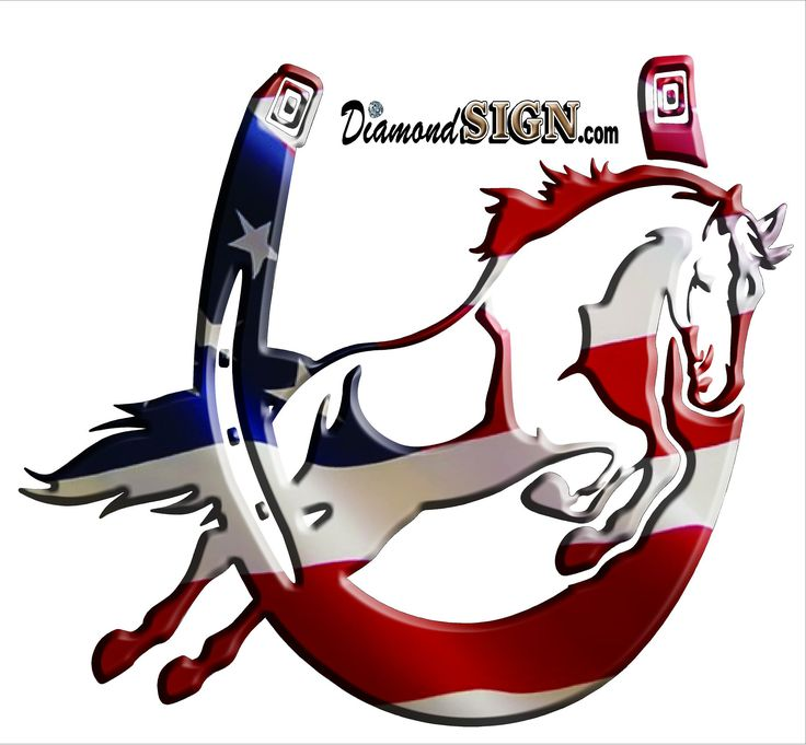 736x681 26 Best Patriotic Horse Decals From Images