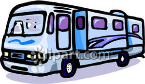 300x173 Large Rv Camping Trailer Royalty Free Clipart Picture