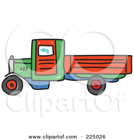 450x470 Royalty Free (Rf) Clipart Illustration Of A Green And Red Car