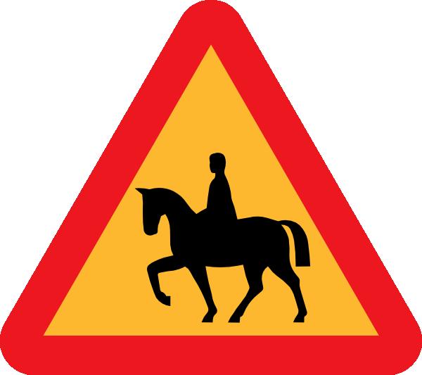 600x533 Horse Riders Road Sign Clip Art Free Vector 4vector
