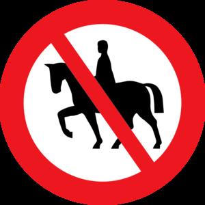 300x300 Horse Riding Prohibited White Bg Clip Art