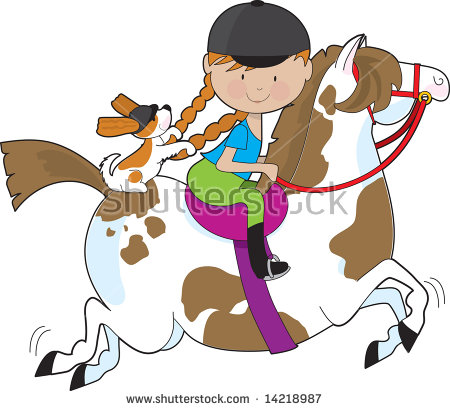 450x411 Horse Riding Clipart Child