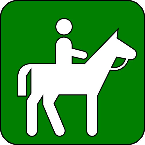 600x600 Horseback Riding Green Clip Art