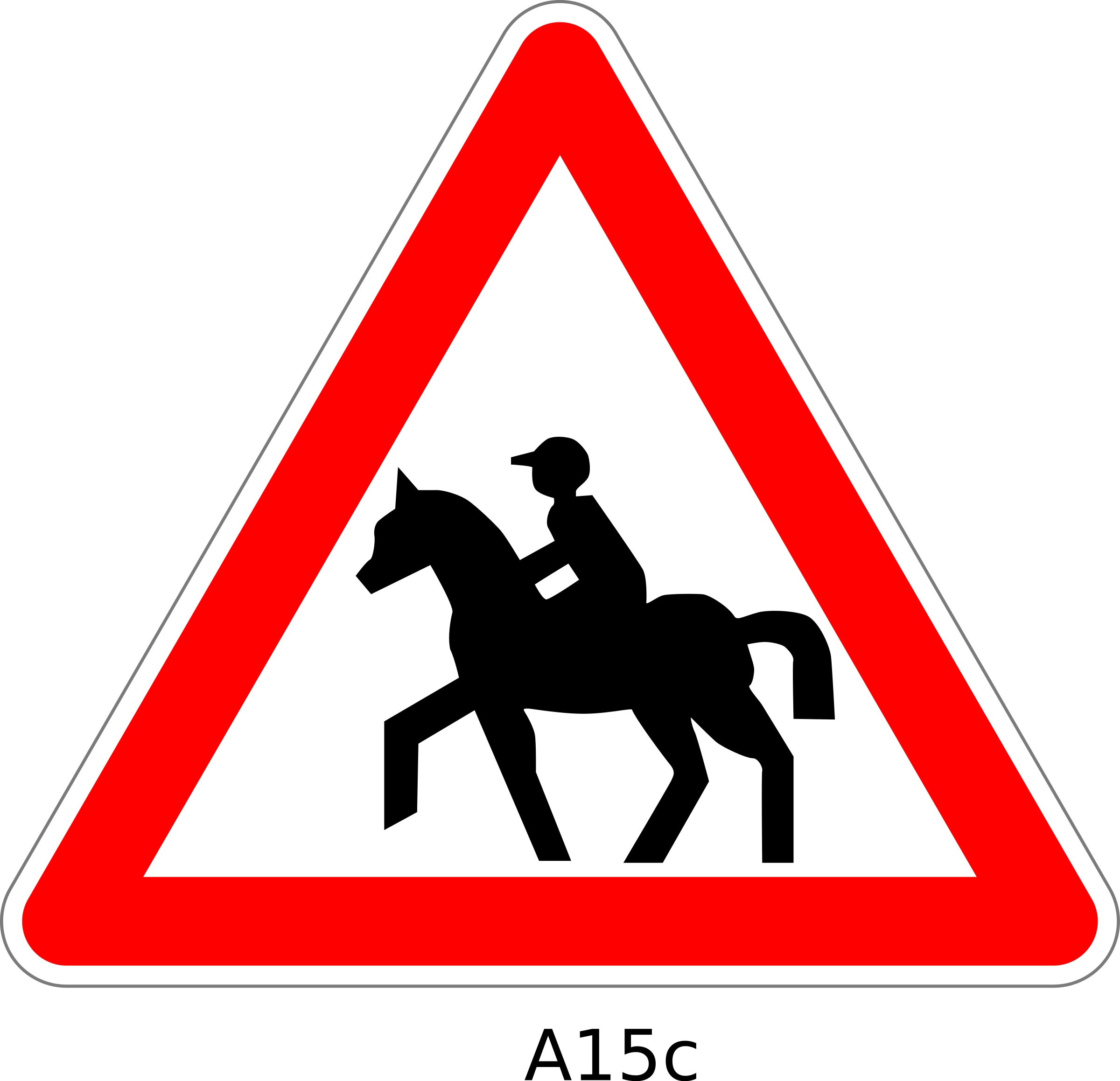 2400x2317 Warning Horse Riding Sign Icons Png