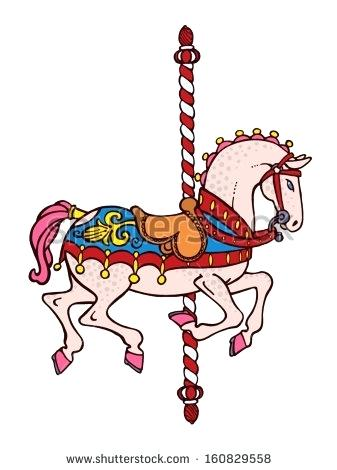 337x470 Carousel Horse Clip Art Bright Elegant Smart Carousel Horse Vector