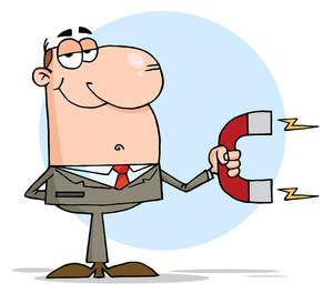 300x265 Magnet Cartoon Clipart Image