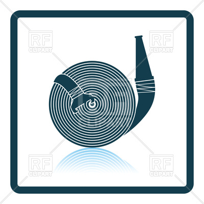 400x400 Shadow Reflection Design Of Fire Hose Icon Royalty Free Vector