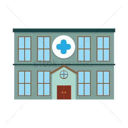 450x450 Free Hospital Building Stock Vectors Stockunlimited