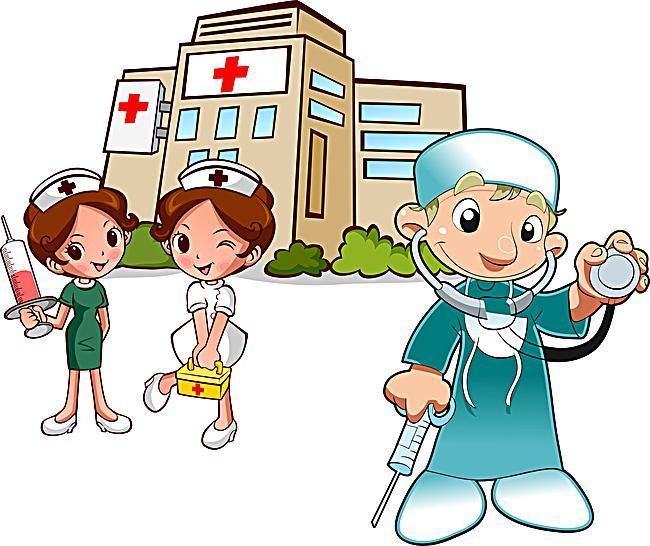 650x546 Hospital Building Illustration Background Template, Hospital