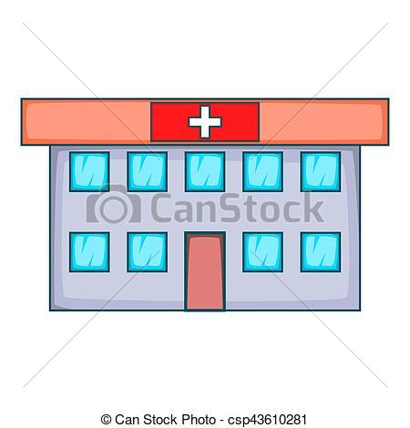 450x470 Hospital Icon, Cartoon Style. Hospital Icon. Cartoon Stock