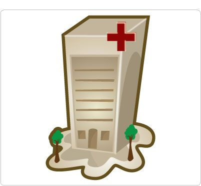 402x371 Image Of Hospital Building Clipart