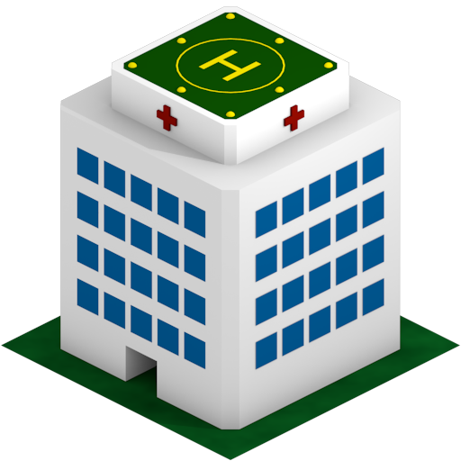 512x512 Image Of Hospital Building Clipart