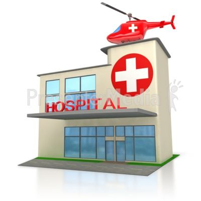 400x400 Medical Hospital Building Powerpoint Clip Art Stick Figures