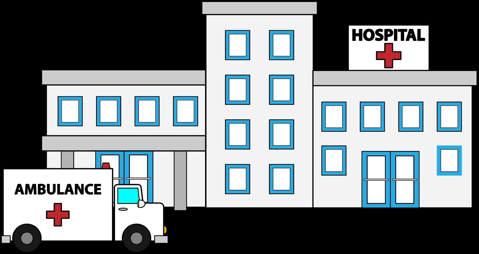 1600x851 Awesome Hospital Clipart Design