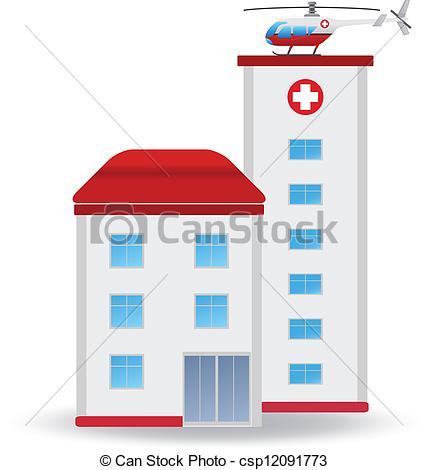 428x470 Hospital Clipart Vector