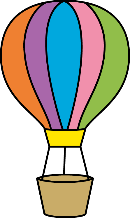 446x747 Colorful Hot Air Balloon Small Borders Hot Air