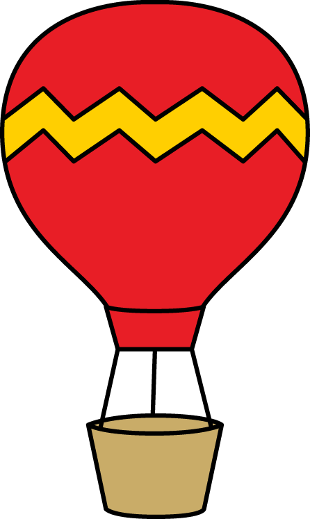 446x747 Hot Air Balloon Clip Art Red And Yellow Hot Air Balloon Clip Art