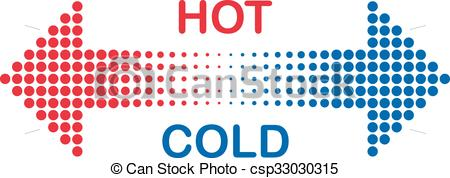 450x178 Hot And Cold Vector Clip Art
