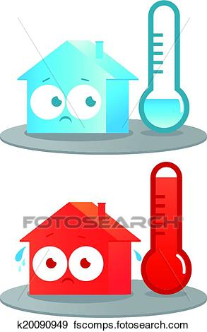 293x470 Startling Cold Clipart Clip Art Of Hot And House K20090949 Search