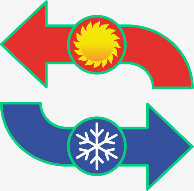 650x640 Air Conditioning Hot And Cold Signs, Logo, Snowflake, Sun Png