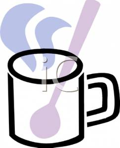 243x300 A Spoon In A Cup Of Hot Chocolate Clipart Picture
