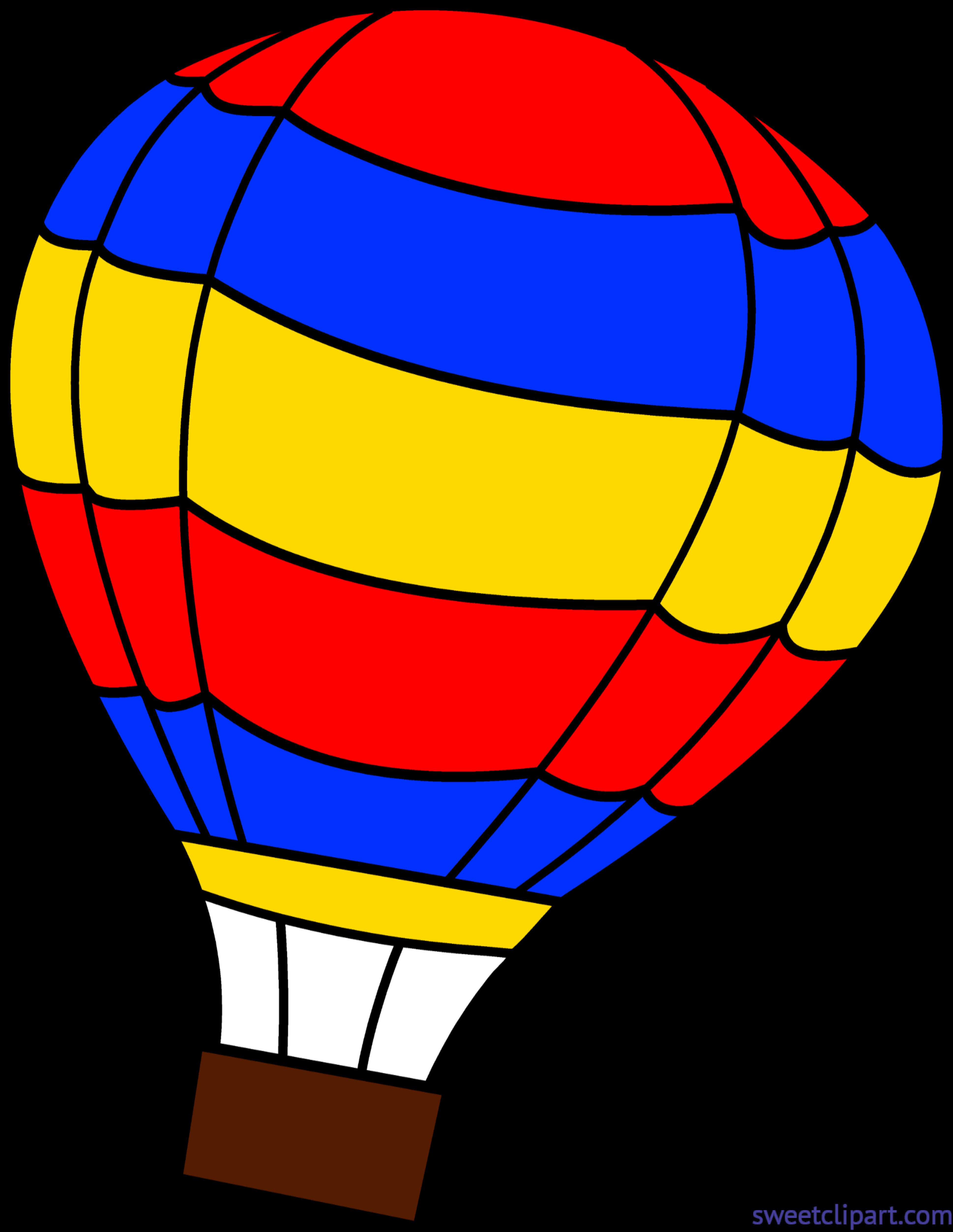 3877x5009 Hot Air Balloon 2 Clip Art
