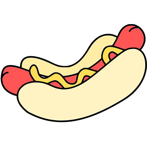 500x500 Hot Dog Clip Art Download Image 5