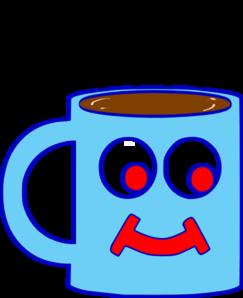 243x298 Blue Hot Chocolate Cup Clip Art