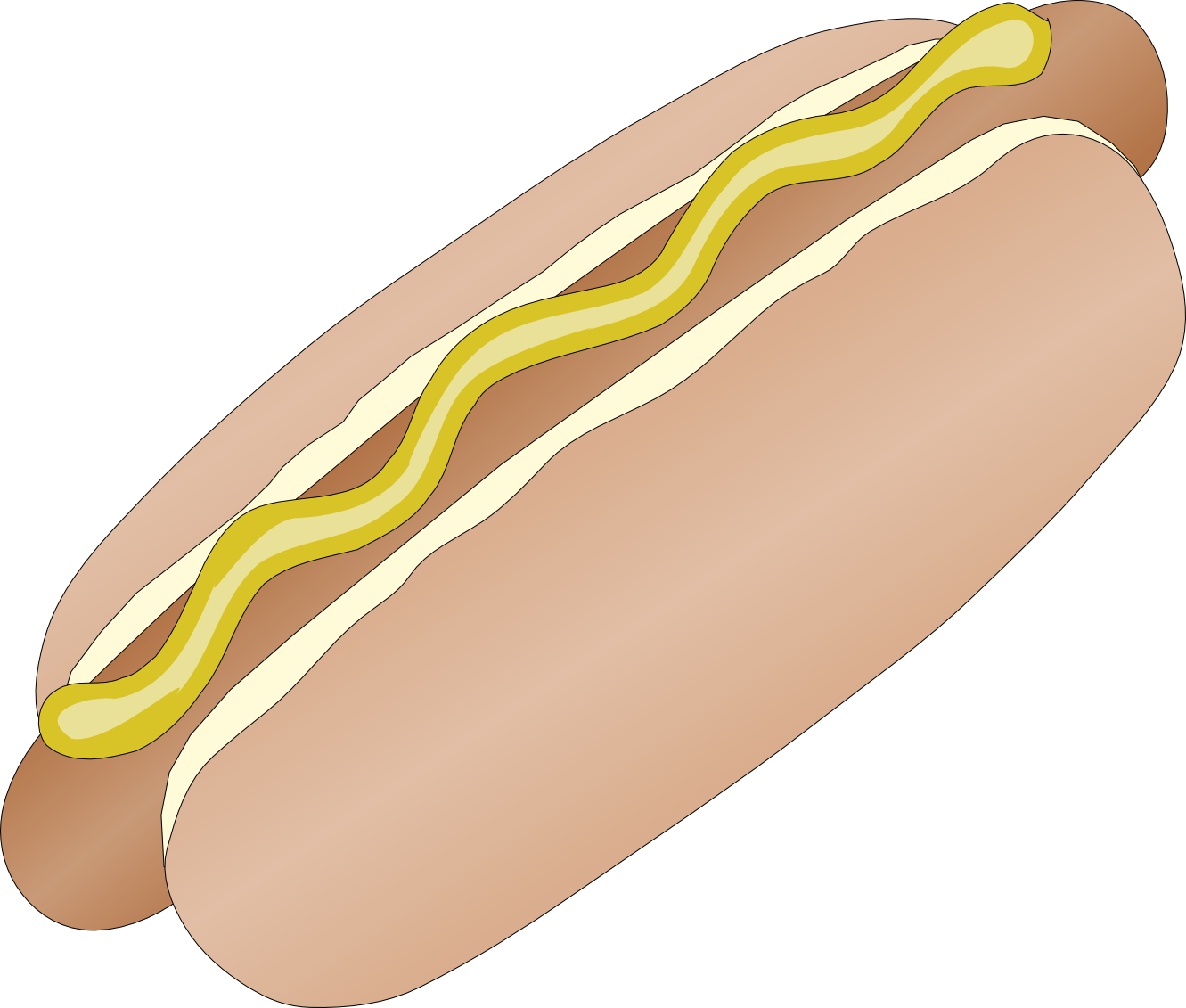 1331x1131 Hot Dog Clip Art Amp Images Free For Commercial Use