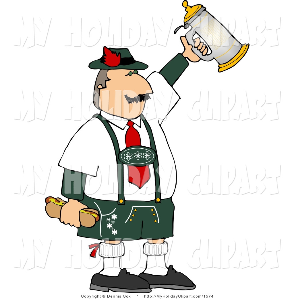 1024x1044 Clip Art Of A Happy German Man Celebrating Oktoberfest With A Beer