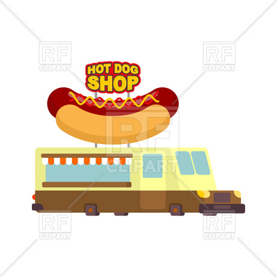 400x400 Food Truck With Hot Dog