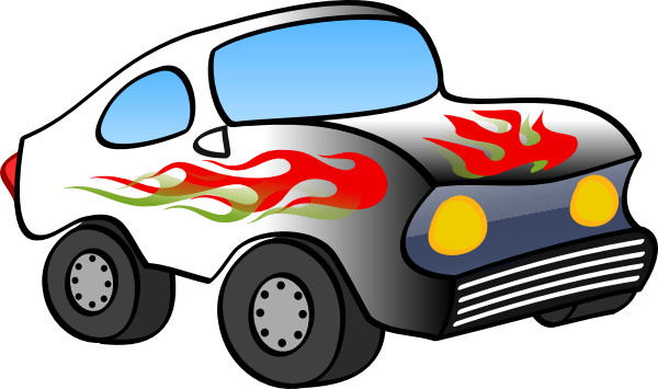 600x355 Cartoon Hot Rod Clip Art