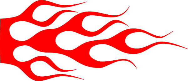 600x259 Hot Rod Red Racing Flame Clip Art