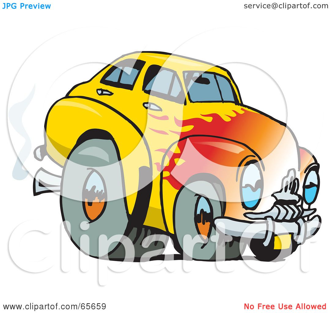 1080x1024 Royalty Free (Rf) Clipart Illustration Of A Yellow Holden Fj Hot
